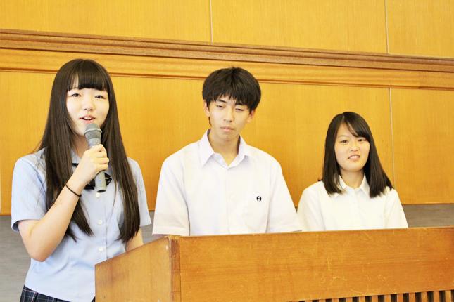 実行委員会の朝倉さん�、内馬場さん�、松井さん(豊橋市民センターで)